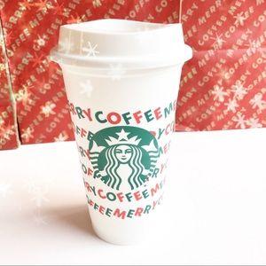 NWOT Starbucks Holiday Reusable Hot Cup 16 oz